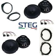 Steg Ms650 Set 4 Coffers Fiat Grande Punto 3/5 With Adapters And Supports Car