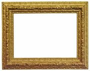 Italian 19th Century Gold Leaf Bull Nose Picture Frame 16x22 Sku 610