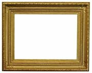 French 1890 Fluted Cove Gold Leaf Picture Frame 28x38 Sku 1807