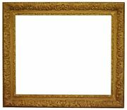 French 19th Century Gold Leaf Gesso Picture Frame 25x30.5 Sku 1968