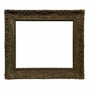 French 18th Century Regence Carved Gilded Picture Frame 24x29 Sku 2218