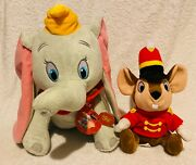 Lot Of 2 Kohland039s Cares Dumbo Plush And Disney Parks Timothy Q. Mouse