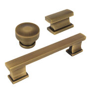 Cosmas 702 Series Brushed Antique Brass Contemporary Cabinet Knobs And Pulls