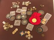 A Lot Of 76 72 Coins 4 Paper Money. Us And Foriegn Mainly. No Gp Silver Dollar