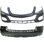 Bumper Covers Set Of 2 Front And Rear For Mercedes Mb1000403, Mb1100306 Pair