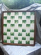 Rare1968 Giuseppe Ronzan And Sons Italian Jungle Porcelain Chess Set Board Only