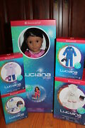 American Girl Luciana Doll + Accessories Space Suit Flight Suit And Pajamas
