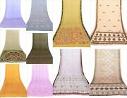 Indian Soft Texture 10 Pcs Lot Assorted Use In Throw Fashion Dressing Silk Saree