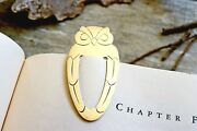 Vintage And Co Sterling Silver Owl Bookmark With Dust Bag