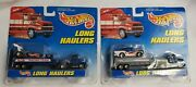 1997 Hot Wheels Racing Team Long Haulers Dragster Semi Tractor And Trailer Combo