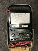 Simpson 260 Electrical Meter Volt Ohm Analog With Case 12440
