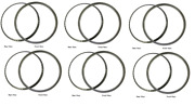 Chevrolet Chevy Car Polished Stainless Trim Beauty Ring 18 Set Of 6 1932-1933