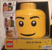 Lego Sort And Store New Mini Figure Head Storage Container. Packaging Damaged.