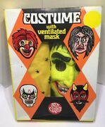 Rare Ben Cooper Halloween Green Witch Plastic Mask W/ Box Near Mint Condition