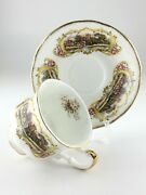 Vintage Paragon Chippendale Teacup And Saucer Fine Bone China M455