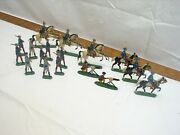 Lot Early Lead Toy Soldiers Mounted Infantry Original Hand Painted Cavalry
