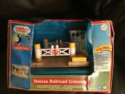 Learning Curve Wooden Thomas Deluxe Railroad Crossing Lc99961 Very Rare New Box