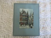 Charles Bird Original Etching The Holly Bush Inn Hand Printed And Colored--uk