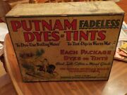 Putnam Fadeless Dyes Tints Advertising Store Display Monroe Chemical Company