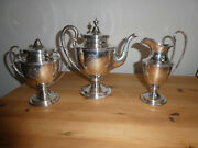 Sterling Silver 3 Piece Tea Set By S Kirk And Son Balitmore