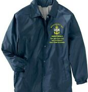 Navy Seals The Only Easy Day Was ..navy Coaches Embroidered Lightweight Jacket