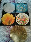 5 Vintage Springbok Jigsaw Puzzles 4 Round 1 Octagon1960s And 1970s