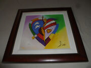 Framed Signed Starlit Alfred Gockel Limited Print Giclee On Canvas Olympics Usoc