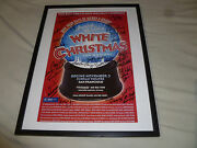 Framed Signed By Cast Members Irving Berlins White Christmas Musical Poster Auto