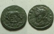 Constantine I 337 Ad Ancient Roman Coin Vrbs Roma She Wolf Stars/romulus Remus