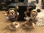 Set Of 2/goebel/hummel/disney/mickey And Minnie mouse Apple Tree Boy And Girl
