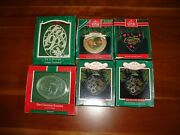 Hallmark Ornaments Lot Of 6 1st Christmas Together 1991, 1992, 1989 12 Days 1988