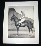 1930 Hawaii Etching Print Polo Horse And Rider And Diamond Head By John M Kelly Kel