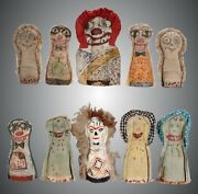 10 Double-sided Knock Down Dolls