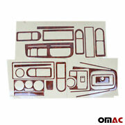 Wooden Look Dashboard Console Trim Kit Kit 21 Pcs For Vw Golf Mk4 2000-2006