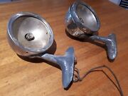 Nash Side Lamps Circa 1930 Including Brackets