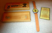 Gene Autry Watch With Animated Gun / 1948 New Haven Watch Co. / New In Box