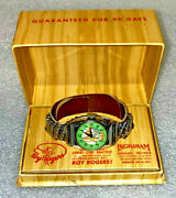 Roy Rogers Watch 1940's Ingraham  New In Box  Engraved Roy Rogers And Trigger