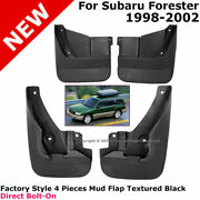 For 98-02 Subaru Forester   Factory Style 4 Pieces Mud Flap Textured Black