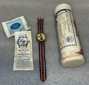 Spiro Agnew Character Watch  Brand New  Mailing Tube, Papers And Watch