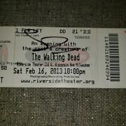 The Walking Dead Rare 2013 Autographed Convention Ticket Norman Lori Yeun