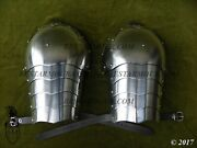 Collectibles Medieval Knight Armour Shoulders/pauldrons 18ga Reenactment Q320