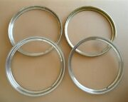 Set Of 4 Original Late 1940s - Early 1950s Chevy Trim Rings / Beauty Rings