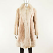 Sheared Beaver With Fox Trim Stroller - Size M-l Vintage Furs