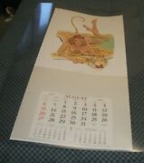 Large 1967 Orig.pin Up Calendar Art-signed By Artist,publisher Note On Back Rare