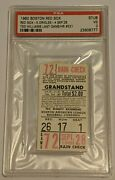 Ted Williams Last Game Ticket Stub 1960 Boston Red Sox Baltimore Orioles Psa 3