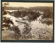 Ny Thousand 1000 Islands Mcintyre Early Large Photograph Steamer Lost Channel