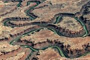 Bowknot Bend On The Green River In Utah Aerial Photograph Horseshoe Canyons