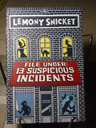Lemony Snicket File Under13 Suspicious Incidents Signed1st Edition1st Print