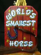 World's Smallest Horse Sign Display,hand Painted,sideshow Gaff,oddity,circus, 👀