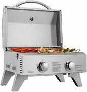 Vivohome Tabletop Stainless Steel 2-burner Propane Gas Grill Stove Bbq Outdoor